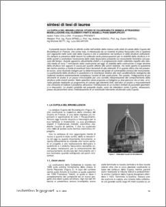 Sintesi di tesi di laurea la cupola del brunelleschi for Piani di cupola pdf